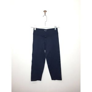 NUX Navy Blue Cropped Leggings Stretch Medium